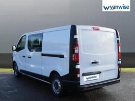 2016 Vauxhall Vivaro 2900 1.6CDTI 115PS H1 DoubleCab Diesel white Manual