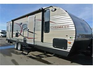Double bunks and fully loaded up travel trailer. Come see it!