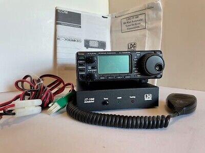 ICOM IC- 706MKIIG HF/VHF/UHF All Mode TRANSCEIVER AND LDG IT-100 ANT TUNER