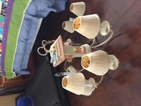 Country Birds Chandelier - REDUCED PRICE TO $50.
