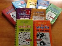 9 x Diary of a Wimpy Kid books