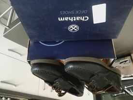 Chatham deck/Yachting shoes.Navy blue.Size 8 UK
