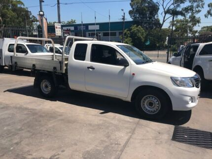 2014 Toyota Hilux GGN15R MY14 SR White 5 Speed Automatic X Cab Pickup Bankstown Bankstown Area Preview