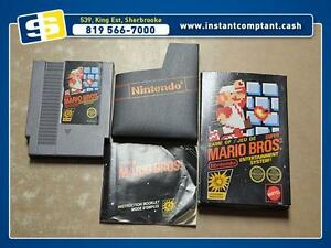 Super Mario Bros dans sa boite