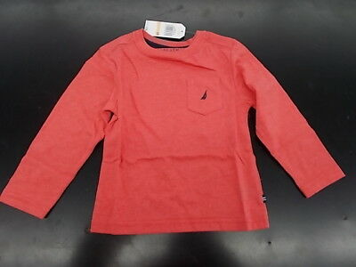 Toddler Boys Nautica $26.50 Dark Pink Long Sleeved T-Shirt Size 2T - 4T
