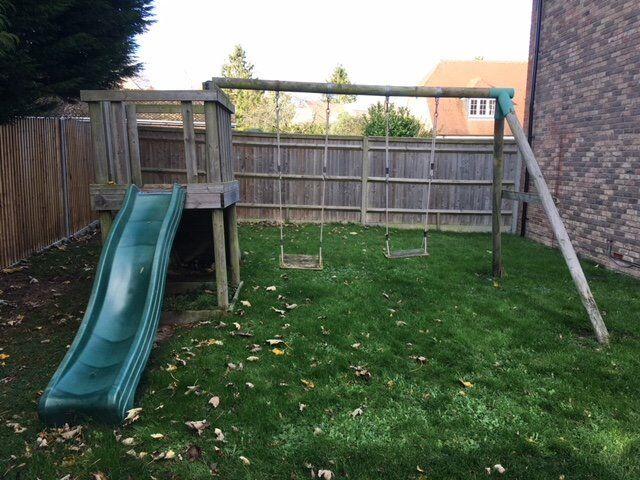 FREE TO COLLECTOR: Children's Double Garden Swing, Climbing Frame and Slide