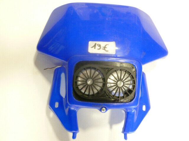 Tête de fourche plaque phare bleu moto cross enduro mécaboite 50 moto vintage