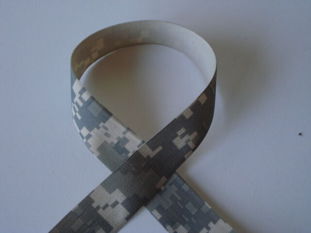 "1"" Ribbon Digital Army Tape or Thin Webbing 50 yrd NEW"