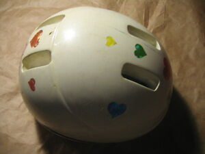 white kid helmet for bicycle. Fit 3-5 yrs $7