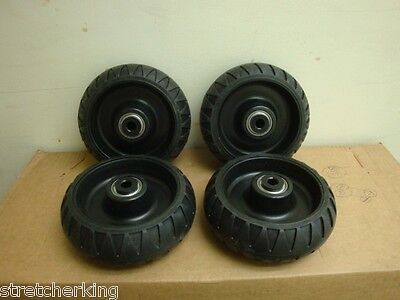 4 Stryker Stretcher Cot Wheels Set Ems Mx Ez Lx Dx 6080 6082 6500 Power