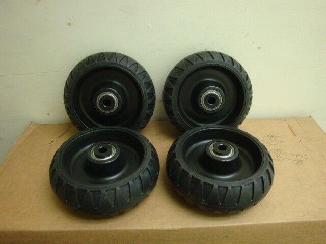4 Stryker Stretcher Cot Wheels Set EMS MX EZ LX DX 6080 6082 6500 6092 bariatric