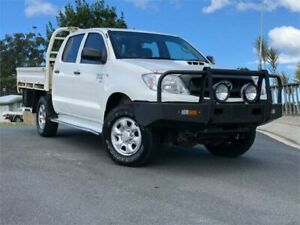 2011 Toyota Hilux KUN26R MY10 SR White 5 Speed Manual Utility Chevallum Maroochydore Area Preview