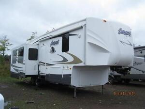 $168 BiWeekly Cedar Creek/ Silverback 30' 5th Wheel, 3 Slides,