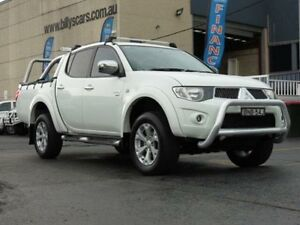 2010 Mitsubishi Triton MN MY10 GLX-R (4x4) White 4 Speed Automatic 4x4 Dual Cab Utility Condell Park Bankstown Area Preview