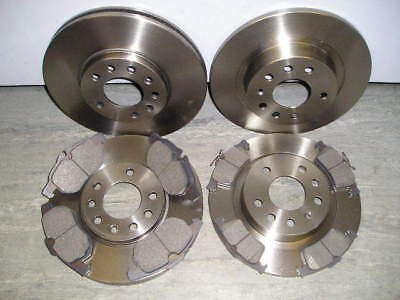 SAAB 9-3 FRONT & REAR BRAKE DISCS AND PADS 1.8 1.9 2.2 2004 ON>NEW COATED DESIGN