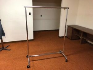 Chrome Heavy Duty Clothing Rolling Rack