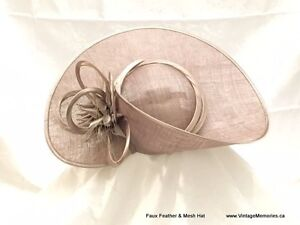 Brand new feather fascinators hair clips for Queens Plate