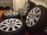 Genuine AUDI A4 Alloy Wheels (alloys + tyres)