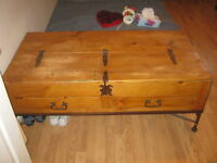Mexican Rustic Coffee Table with storage