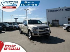 2018 Ford F-150 Platinum 4x4 - Leather, SYNC Connect, Max Tow