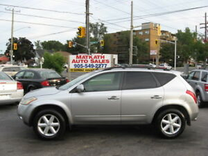 **2004 Nissan Murano SE** Leather & Sunroof, Certified & E-test