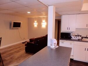 ***Furnished 2 bedroom basement suite in Brentwood NW**
