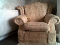 lovely wingback armchair specially made