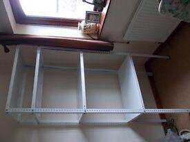 Metal 4 shelf rack