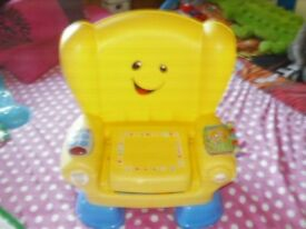 FISHER PRICE LAUGH AND LEARN ACTIVITY CHAIR YELLOW