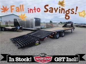 Fall Into Savings!! 8.5 x 25 Tandem Dual Gooseneck - 23,900# GVW