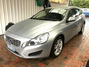 2012 Volvo V60 F Series MY12 T4 PwrShift Electric Silver 6 Speed Sports Automatic Dual Clutch Wagon Glen Iris Boroondara Area Preview