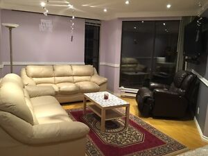 Furnished Condo in West end with view of English bay
