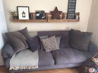 4 Seater Grey DFS Sofa
