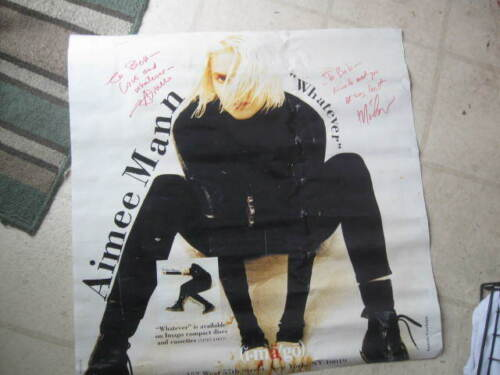 "AIMEE MANN 1993 ""WHATEVER"" AUTOGRAPHED(?2?) PROMOTIONAL POSTER"