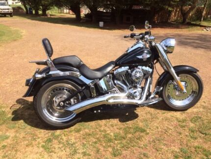 Harley Davidson Fatboy late 2014 Daylesford Hepburn Area Preview