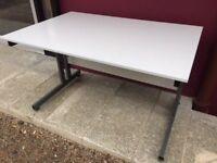 Grey 1200 straight office desk delivered to Belfast