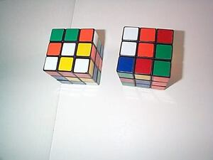 vintage original Rubik's Cubes from the 1980's