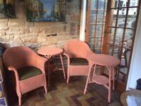 Lloyd-Loom chairs (2) and tables (2)