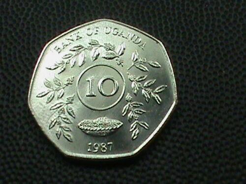 UGANDA    10 Shillings    1987    UNC   ,   $ 3.99 maximum shipping in USA