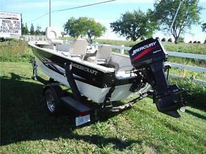 2006 Smokercraft Resorter 16' Aluminum fishing boat with trailer Stratford Kitchener Area image 4