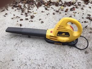 LEAF BLOWER electric Mc Cullock