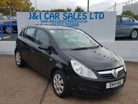 VAUXHALL CORSA 1.2 EXCLUSIV A/C 5d 83 BHP www.jandicarsplymouth.c (black) 2011