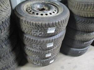 205/60 R16 KIA WINTER TIRES AND STEEL RIMS PACKAGE (SET OF 4) - USED MOTOMASTER WINTER EDGE (COOPER TIRE) APPROX. 85% TR
