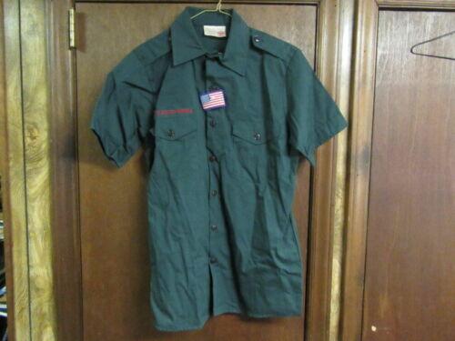Dark Green BSA Shirt Neck 14 Size Small for Explorers or Ventures     A17