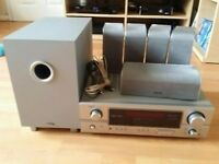 Denon AVR-1306 Surround Sound System plus speakers and subwoofer