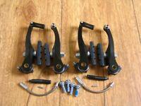 Mountain Bike Hybrid Bike V Brake Set Front & Rear Black Alloy Includes Noodle & Boot Can Deliver