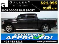 2009 DODGE RAM SPORT CREW *EVERYONE APPROVED* $0 DOWN $169/BW!