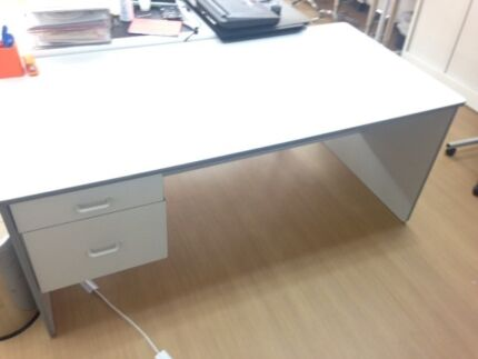 Large, grey desk with drawers Perth CBD Perth City Preview