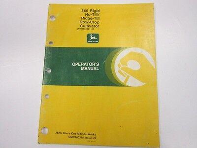 John Deere 885 Rigid No-tillridge-till Row-crop Cultivator Operators Manual