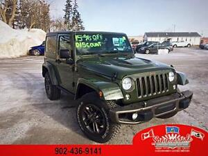 2016 Jeep Wrangler 75th Anniversary DUAL TOP SAVE $7,292 !!
